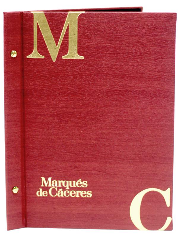 Portamenús para Marqués de Cáceres