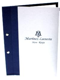 Portamenús para Martínez Lacuesta